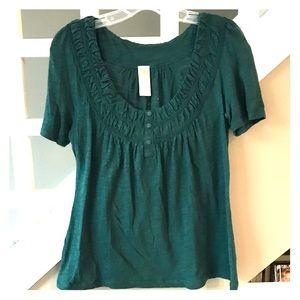 Green bohemian shirt